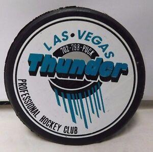 Las Vegas Thunder Professional Hockey Club 50th Anniversary Puck Very Rare B