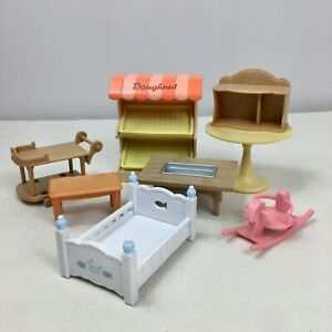 8 Pieces Sylvanian Families Calico Critters Dollhouse Furniture Epoch (Lot #6)