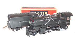 Lionel Prewar O Gauge Gunmetal 249E Steam Locomotive & 265W Tender! CLEANNNN! PA