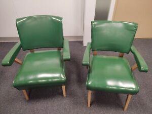 Viking Artline Chairs pair slipper armchairs mid-century modern all original