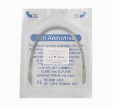 1Pack NTSE Orthodontic Supper Elastic Niti Arch Wire Round Ovoid 0.014 Upper