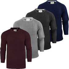 MENS JUMPERS PLAIN CREW NECK CASUAL FORMAL KNITTED WINTER PULLOVER BY BRAVE SOUL