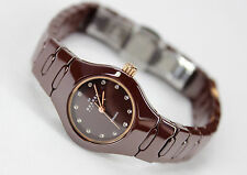 Skagen Women's Redish Brown Bronze Ceramic Quartz Watch 816XSDXC1 Retail $195
