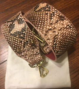 Klaspe Interchangeable Handbag Guitar Purse Shoulder Strap Pink Snake Vegan Ltr