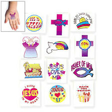 36 Assorted Fun Religious Kids Temporary Tattoos Party Favors