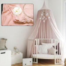 Pink Round Dome Canopy Bed Netting Mosquito Bedding Net Baby Kids Play Tents