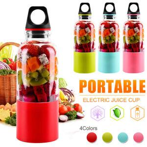 500ML Portable Juicer Cup Electric USB Rechargeable Blender Bottle Juice Maker