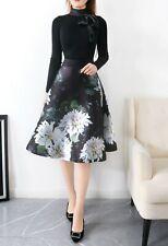 NEW AUTH Ted Baker JORDYNN Clove full skirted mockable dress Black, 0-5