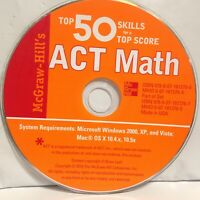 McGraw-Hill's Top 50 Skills for a Top Score: ACT Math, PC on CD, Windows/MAC