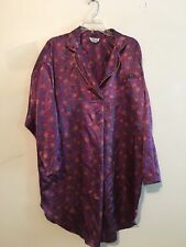 Jennifer Moore Purple Yellow Floral Lingerie Sexy Pajamas Sleep wear Size M