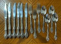 Oneida West Bend AFFECTION Stainless Dinner Forks Soup Spoons Knives Lot of 13