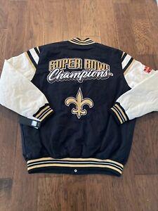 NWT New Orleans Saints Snap Jacket Super Bowl Champions Men's 2XL