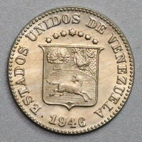 1946 Venezuela 5 Centimos UNC Horse Coin (19070603R)