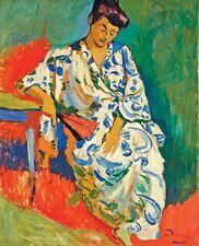 "Henri Matisse CANVAS PRINT Derain Madame Matisse Painting poster 36x24"""
