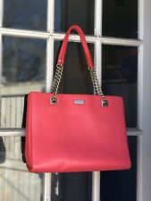 KATE SPADE AUTH $375 Women's Neon Coral Leather Antoinette Montrose Handbag