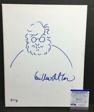 Guillermo Del Toro Signed 11x14 Canvas 'w/ Self Sketch *Hellboy PSA AH20512