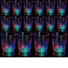 24 Light-Up Shot Glasses LED Flashing Drinking Blinking Barware Party Glass Lot