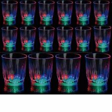 24 Light-Up Shot Glasses LED Flashing Drinking Blinking Barware Party Glass Lot