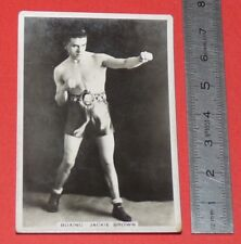 BOXING CIGARETTE CARD SPORTING EVENTS & STARS 1935 BOXE JACKIE BROWN MOUCHES COQ