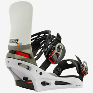 Burton Cartel X Re:Flex | 2021 - Mens Snowboard Bindings | White / Black / Multi