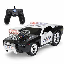 2.4 GHz Remote Control Police Car w/ Lights, Rechargeable Batteries, USB Cable