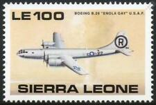 WWII USAF Boeing b-29 Enola Gay SUPERFORTRESS Bomber Aircraft Stamp/Sierra Leone