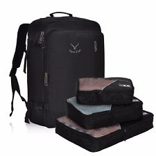 Hynes Eagle 38L Flight Approved Carry On Backpack Packing Cube Travel Valued Set