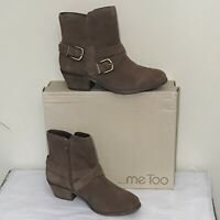 Me Too Zuri14 Acorn Suede Leather Upper Women's Ankle Boots Size 6.5