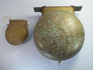 2 x Antique Plant & Perry Brass Glockenspiel Bells