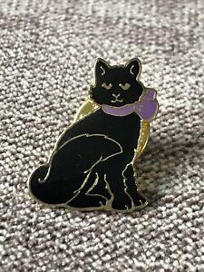 Black Cat Pin Badge-Lucky Cat