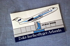 Linjeflyg LIN Bromma Airport    vintage Luggage Label