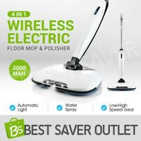Electric Floor Polisher Cordless Mop Spin Cleaner Sweeper Scrubber Wax Cleaning