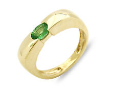Woman's Natural Untreated Emerald Solitaire .50 ct 14k SOLID Gold Ring