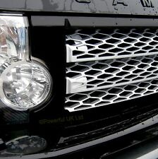 Gloss Black+silver front grille Land Rover Discovery 3 LR3 conversion java grill