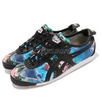 Asics Onitsuka Tiger Mexico 66 Black Blue Water Women Running Shoes D674L-9090
