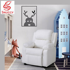 Kids Recliner PU Sofa Children Lounge Chair Couch Armchair Ivory