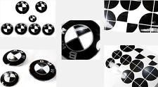 GLOSS BLACK Complete Set of Vinyl Sticker Overlay All BMW Emblems