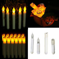 Tall Electric LED Candle Flameless Smokeless Candle for Candlelight Dinner Decor