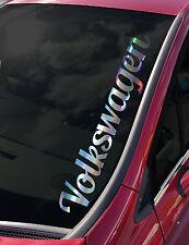 VOLKSWAGEN Windscreen Hologram Chrome  VDUB POLO GOLF GTI T5 vinyl decal sticker
