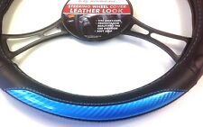Soft Grip Car Steering Wheel Sleeve Cover Black Blue protector FITS most CARS