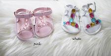 NEW Infant Baby Girl Summer Gem Sandals Shoes 0-6 months Size 0.1.2