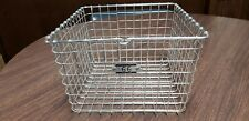 "Chrome Wire Locker Basket Metal Construction 12"" w X 13.5"" L X 8"" T with number"