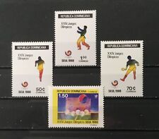 DOMINICAN REPUBLIC # 1031-1034.  SEOUL SUMMER OLYMPICS 1988. MNH