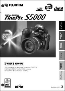 FujiFilm FinePix S5000 Digital Camera User Guide Instruction  Manual