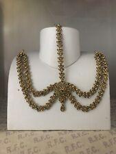 Gold headpiece matha patti tika hijab boho bridal grecian hair chain prom party