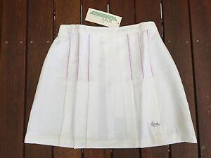 RENEE Retro Style Ladies Girls Tennis Skirt White w/ Pocket Waist 60/65/70 cm