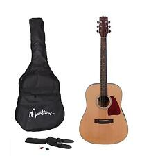 New Martinez Beginner Acoustic Dreadnought Guitar Pack (Natural Satin)