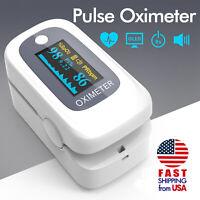 OLED Oximeter Pulse Fingertip Finger SPO2 PR PI RR Heart Blood Oxygen Monitor