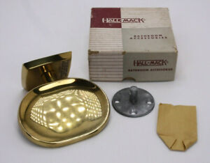 Cast Brass Metal Hall-Mack Bathroom Soap Holder Antique Vtg Wall Mount NOS