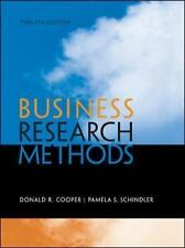 Business Research Methods by Donald R. Cooper and Pamela S. Schindler (2013,...